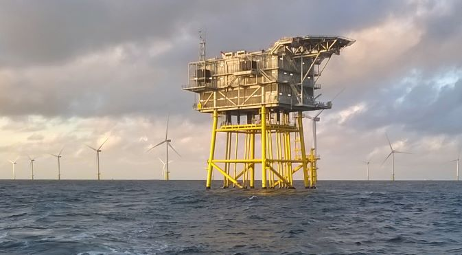 Gemini wind farm offshore high voltage substation