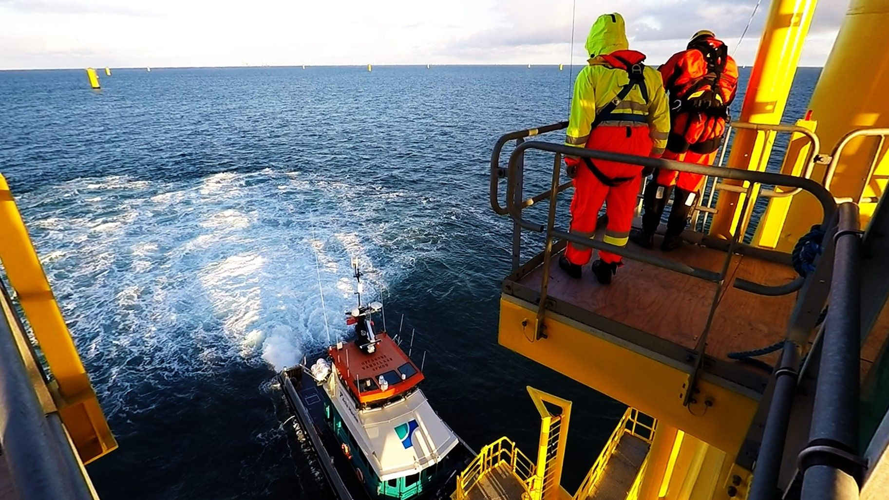 Gemini wind farm offshore high voltage substation - Boat Transfer