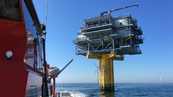 Northwind wind farm offshore high voltage substation