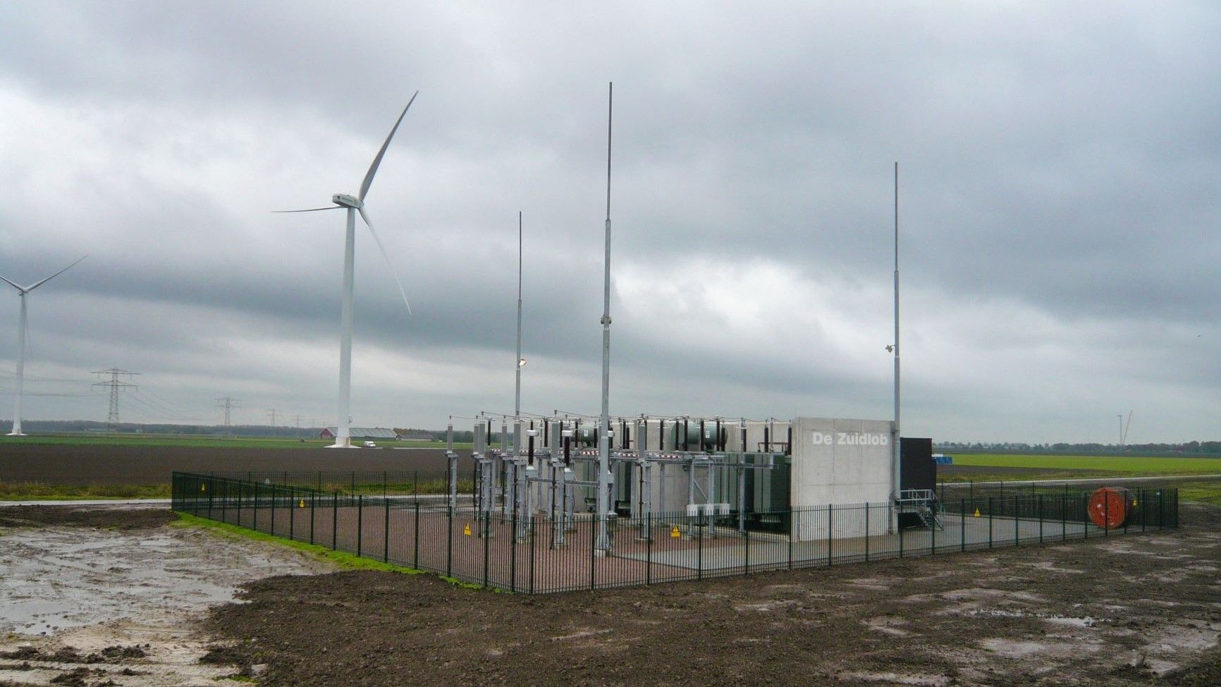 Zuidlob wind farm onshore high voltage substation
